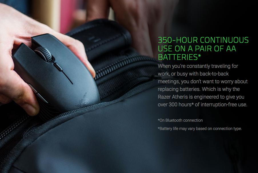 Razer Atheris Ambidextrous Wireless Gaming Mouse
